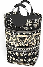 Hdadwy Moon Stripes 50L Large Laundry Basket with