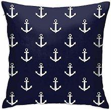 Hdadwy Pattern with Anchors Hidden Zipper Home