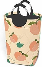 Hdadwy Peach Print 50L Large Laundry Basket with