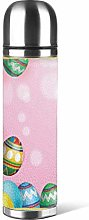 Hdadwy Pink Colorful Easter Egg Water Bottle