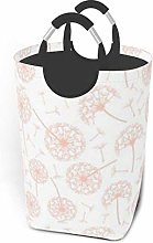 Hdadwy Pink Dandelion 50L Large Laundry Basket