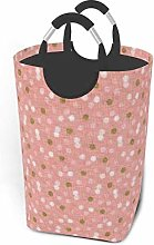 Hdadwy Pink Dots 50L Large Laundry Basket with