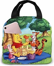 Hdadwy Pooh Picnic Insulated Lunch Box Bag Cooler