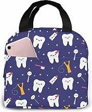 Hdadwy Portable Lunch Tote Bag Cute Cute Dental
