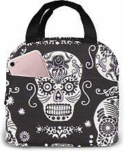 Hdadwy Portable Lunch Tote Bag Cute Dark Folklore