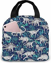 Hdadwy Portable Lunch Tote Bag Cute Dinosaur