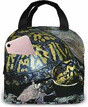 Hdadwy Portable Lunch Tote Bag Cute Eastern Box