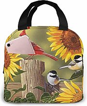 Hdadwy Portable Lunch Tote Bag Cute Sunflower and