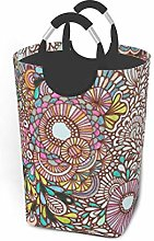 Hdadwy Psychedelic Circle 50L Large Laundry Basket