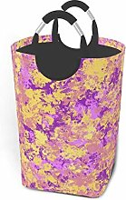 Hdadwy Purple Flower 50L Large Laundry Basket with