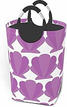 Hdadwy Purple Shell 50L Large Laundry Basket with