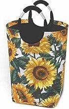 Hdadwy Retro Sunflower 50L Large Laundry Basket