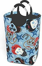 Hdadwy Skull Print 50L Large Laundry Basket with