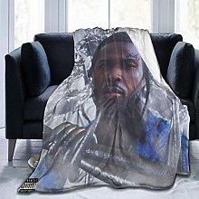 Hdadwy Soft Throw Pop Smoke Blanket Fit Sofa