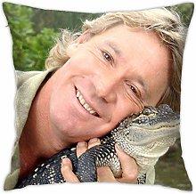 Hdadwy Steve Irwin Square Throw Pillow Case Print