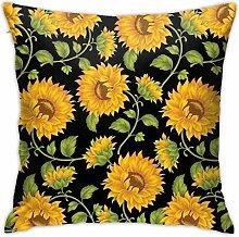 Hdadwy Sunflower Throw Pillow Covers, Sofa Cushion