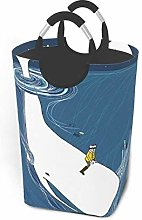 Hdadwy Surfing Whale 50L Large Laundry Basket with