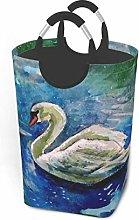Hdadwy Swan Background 50L Large Laundry Basket