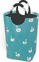 Hdadwy Swan Print 50L Large Laundry Basket with