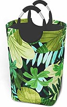 Hdadwy Tropical Leaves 50L Large Laundry Basket