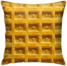 Hdadwy Waffle Hidden Zipper Home Sofa Decorative