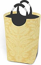 Hdadwy Yellow Print 50L Large Laundry Basket with
