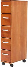 HDBN Storage cabinet Removable Wheels 5 Tier