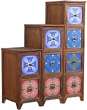 HDBN Storage cabinet Solid Wood Drawer Type Narrow