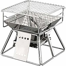 HDDFG Portable Charcoal BBQ Grills Stainless Steel
