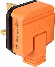 HDPT13O HDPT130 Plug 13A Thermoplastic - Orange -