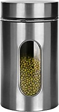 HDSFD Deluxe Stainless Steel Canisters, Window