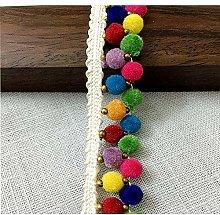 Hdsght Pom Pom Fringe Trim Rainbow Belt Ribbon -