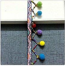 Hdsght Pom Pom Fringe Trim Sewing Ribbon - Rainbow