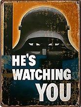 He's Watching You, World War 1, Propaganda tin