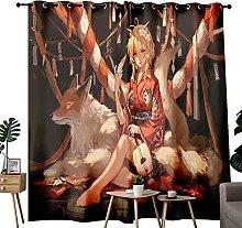 he genshin impact Kimono girl Living Room Curtains