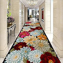 HE TUI Classic Hallway Runner Rug, 3D Floral