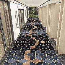 HE TUI Geometric Carpet Runners Hallway Stairs