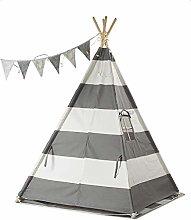HE-XSHDTT Kids Tipi Tent Grey for Children Indoor