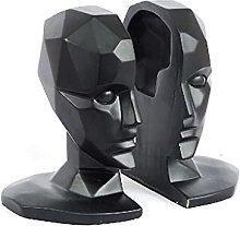 Head Bookends Decorative Book Holder Modern Art