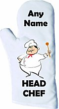 Head Chef Personalised Oven Glove