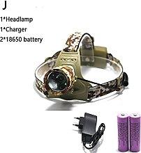 Head Torch 5000LM XM-T6 LED Headlamp 3 Modes