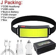 Head Torch Long Lighting Distance 1000LM USB