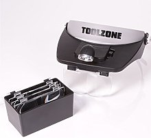 Headband Magnifying Lens Headset With 2x LED