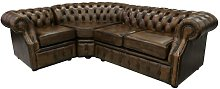 Healdton Chesterfield Leather Corner Sofa Rosalind