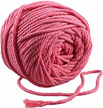 Healifty 100 Meters Macrame Rope Colorful Natural