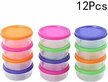 Healifty 12pcs Baby Food Storage Containers Mini