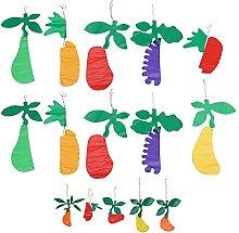 Healifty 15pcs Honeycomb Fruit Tissue Paper Fruit