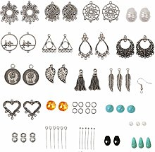 Healifty 309Pcs Earrings Jewelry Making Kit Set
