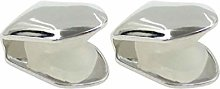 HEALLILY 2Pcs Plated Gold Tooth Single Grill Cap