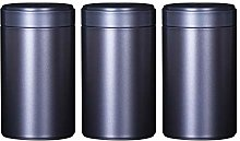 HEALLILY 3PCS Tea Tins Tea Canister Airtight Round